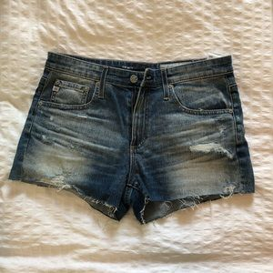 AG shorts, THE BRYN ex-boyfriend cut-off